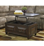 Signature Design Hindell Park Lift Top Cocktail Table - Rustic Brown