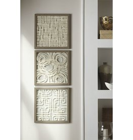 Signature Design Odella Wall Decor Set (3/CN) - Cream/Taupe  A8010009