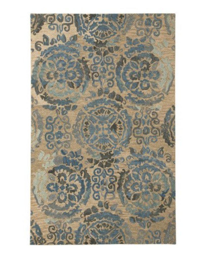 Signature Design Alazne Medium Rug - Blue/Ivory 5' X 8'