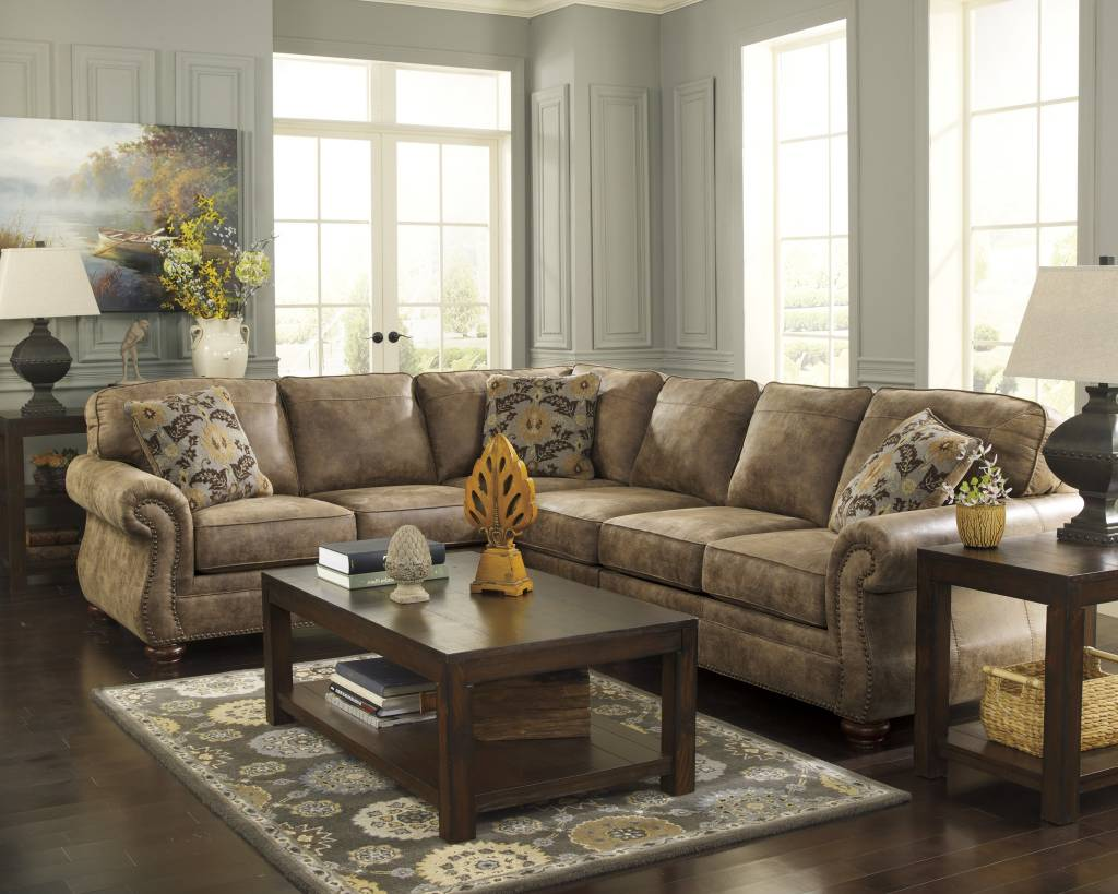 Signature Design Larkinhurst 2 Piece Sectional Raf Loveseat Laf Sofa Earth 31901 56 66