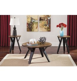 Signature Design Ingel Occasional Table Set (3/CN) - Two-tone Brown T267-13