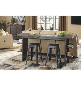 Signature Design Lamoille Long Counter Table - Dark Gray D639-33