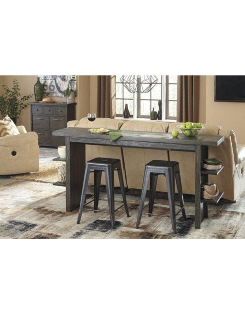 Signature Design Lamoille Long Counter Table - Dark Gray