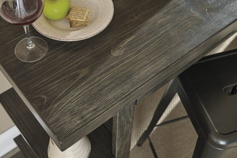 Signature Design Lamoille Long Counter Table - Dark Gray