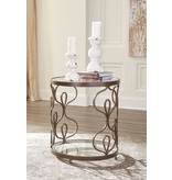 Signature Design Fraloni Bronze Finish Round End Table T086-6