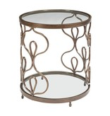 Signature Design Fraloni Bronze Finish Round End Table T086-6