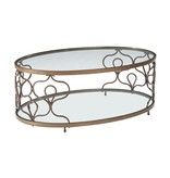 Signature Design Fraloni Oval Cocktail Table- Bronze Finish T086-0