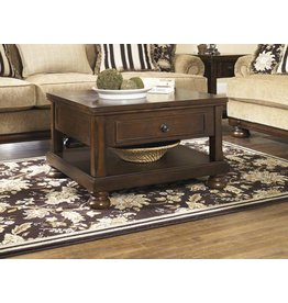 Signature Design Porter Lift Top Cocktail Table - Rustic Brown