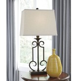 Signature Design Ainslie Metal Table Lamp (2/CN) - Bronze