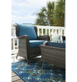 Signature Design Abbots Court Lounge Chair w/Cushion (2/CN) - Blue/Gray