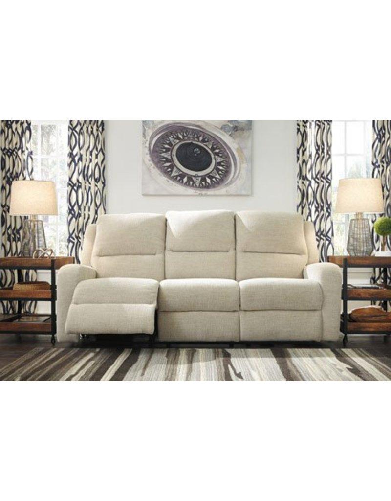 Signature Design Krismen, Power Reclining Sofa with Power Adjustable Headrest 7810315