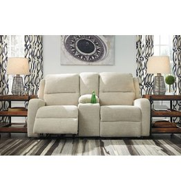 Signature Design Krismen, Power Reclining Loveseat with Console and Adjustable Power Headrest 7810318