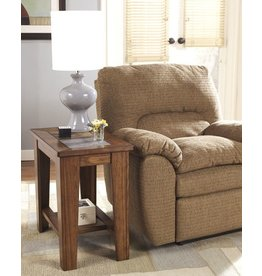 Signature Design Toscana Chair Side End Table - Rustic Brown