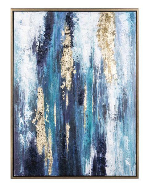 Signature Design A8000218 Dinorah, Teal Blue, Contemporary
