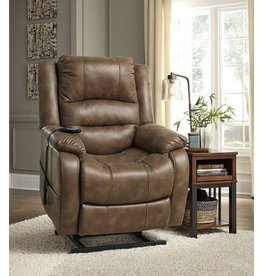Signature Design Yandel Power Lift Recliner - Saddle