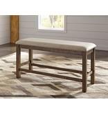 Signature Design Moriville Double UPH Bench (1/CN) - Beige