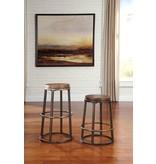 Glosco Tall Stool (2/CN) - Medium Brown
