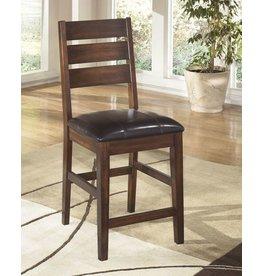 Larchmont Upholstered Barstool (2/CN) - Burnished Dark Brown