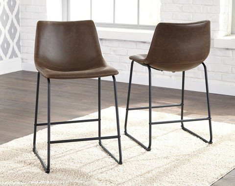 Centiar Barstool- Black/Brown Upholstered