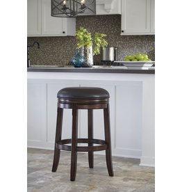 Porter Tall UPH Swivel Stool (2/CN) - Rustic Brown