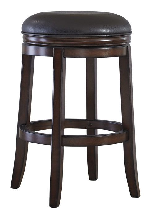 Porter Tall UPH Swivel Stool (2/CN) - Rustic Brown
