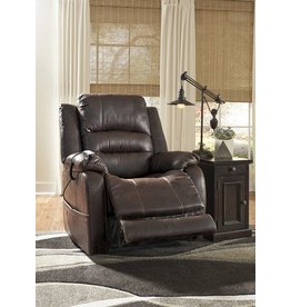 Signature Design 6880213 Barling Power Recliner, Walnut