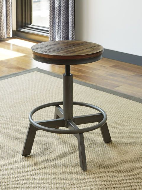 D440-024 Torjin Brown/Grey Adjustable Height Barstool