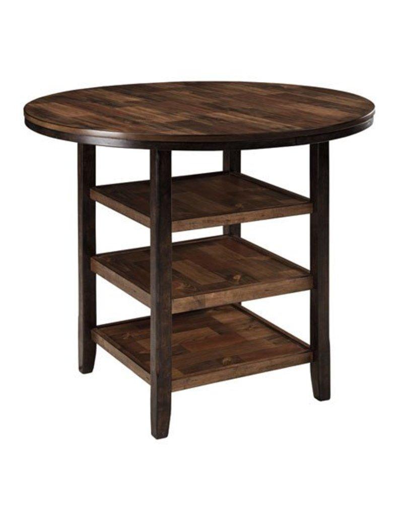 Moriann Round DRM Counter Table - Dark Brown