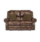 Signature Design Walworth Power Loveseat Nutmeg