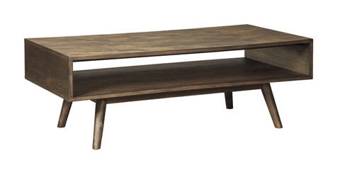 Kisper Rectangular Cocktail Table - Dark Brown