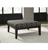 Signature Design Cresson Oversized Accent Ottoman - Pewter