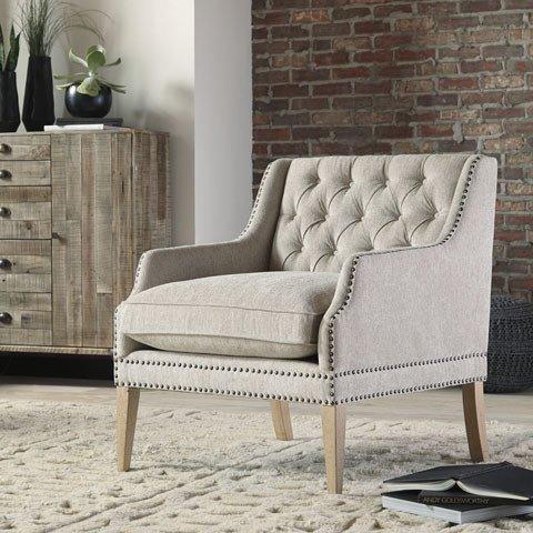 Signature Design Trivia Accent Chair Casual Bone Color