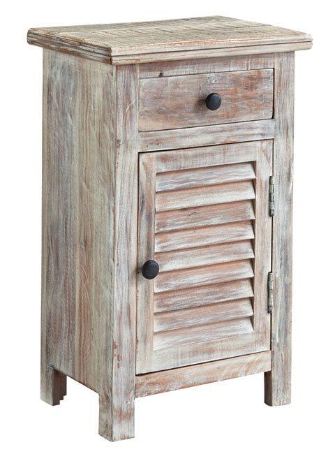 Signature Design Charlowe Door Night Stand - White Wash