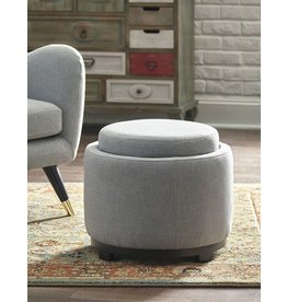 Signature Design Menga Storage Ottoman- Ash Color A3000037