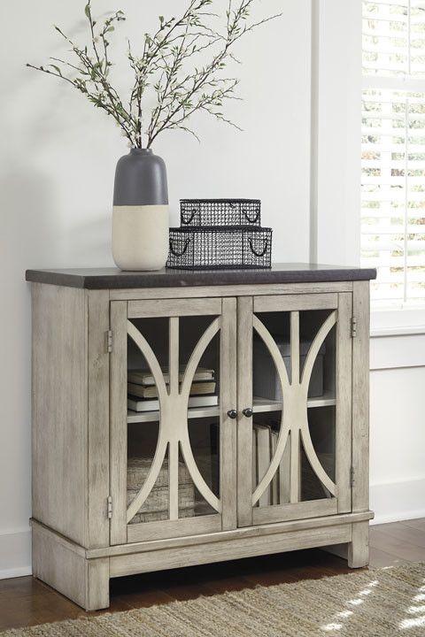 Signature Design Vennilux Door Accent Cabinet - Bisque