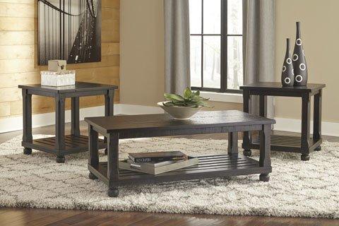 Signature Design Mallacar Occasional Table Set (3/CN) - Black