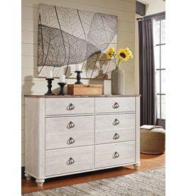 Signature Design Willowton Dresser - Two-tone B267-31