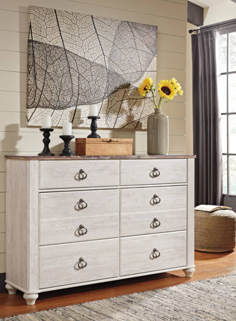 by dresser tone kayla painted payne two and maple chest