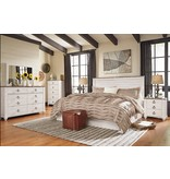 Signature Design Willowton Five Drawer Chest - Two-tone