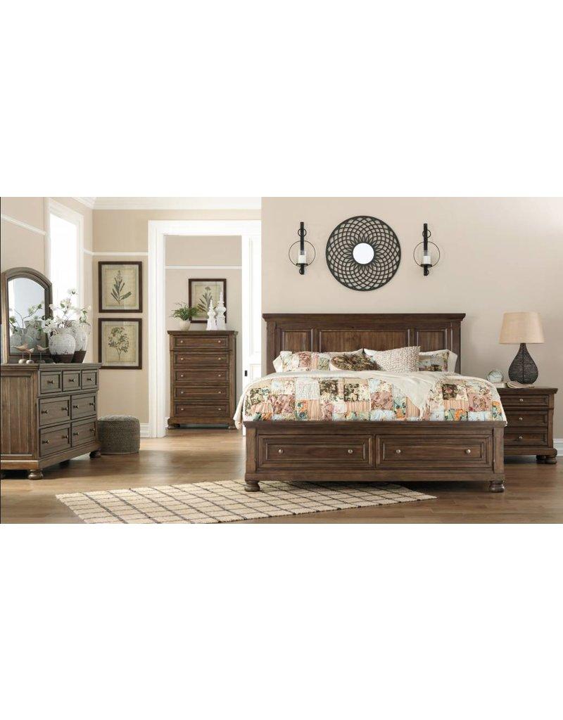 Signature Design Flynnter, Queen Storage Footboard, Medium Brown B719-74