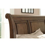 Signature Design Flynnter, Queen Sleigh Bed, Medium Brown B719-74, 77, 98