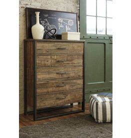 Signature Design Sommerford Five Drawer Chest - Brown