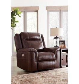 Signature Design Wyline, Power Recliner with Adjustable Headrest, Coffee 7170113