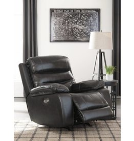 Signature Design Pillement, Power Rocker Recliner with Adjustable Headrest, Metal 7700413
