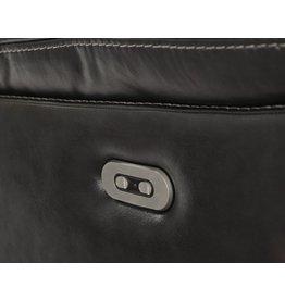 Signature Design Pillement, Power Reclining Sofa with Adjustable Headrest, Metal