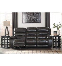 Signature Design Pillement, Power Reclining Sofa with Adjustable Headrest, Metal 7700415