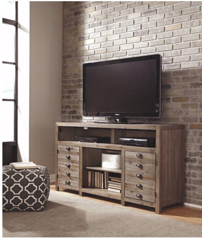 Signature Design Keeblen Extra Large TV Stand - Grayish Brown