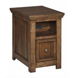 Signature Design Flynnter, Chairside End Table, Medium Brown T919-7