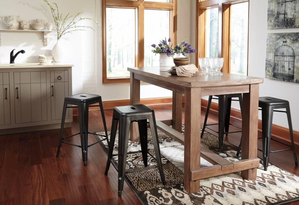 Signature Design Pinnadel Stool - Gray (4CN) Price per stool