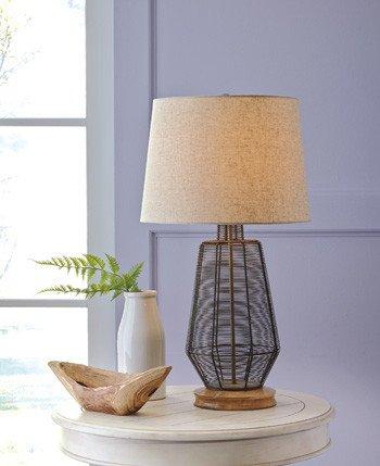 Signature Design Artie Metal Table Lamp (1/CN) - Natural